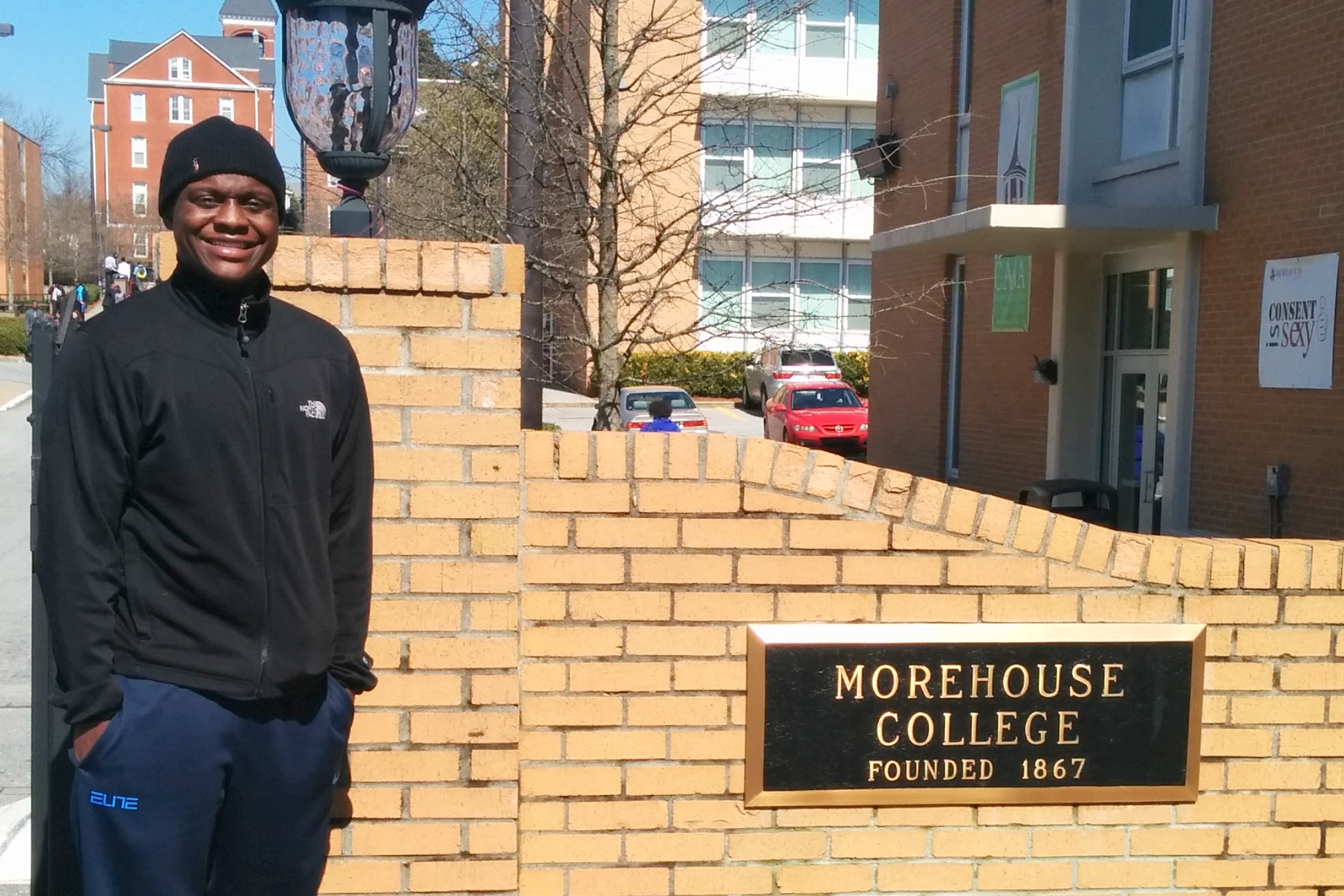 Syade Shields Morehouse sign cropped